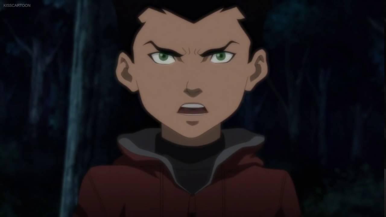 Justice League Vs Teen Titans Damian Wayne  Raven Scene -1852