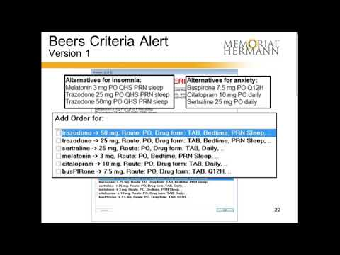 Davies Use Case Beers List Potentially Inappropriate Medication PIM In Elderly