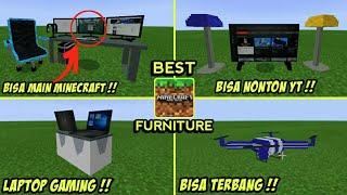 WOW !! ADDON FURNITURE TERBAIK DI MCPE 1.11/1.12 !! ADA PC GAMING !!