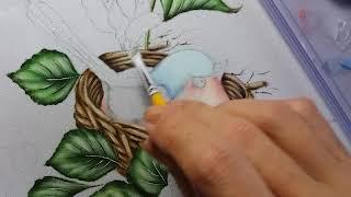 Passarinho – Vídeo 3 – Pintura em tecido