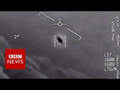 UFO spotted by US fighter jet pilots, new footage reveals - BBC News
