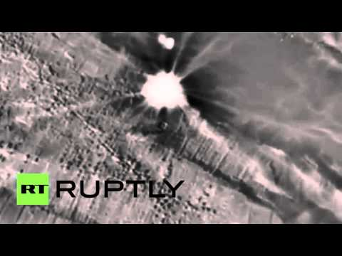 Syria: Russian Kalibr-NK cruise missiles target IS command centre