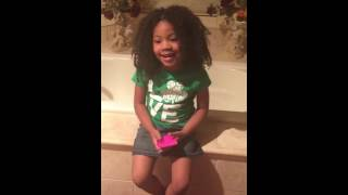 4 Year Old Finds A Panty Liner ! Lol!!
