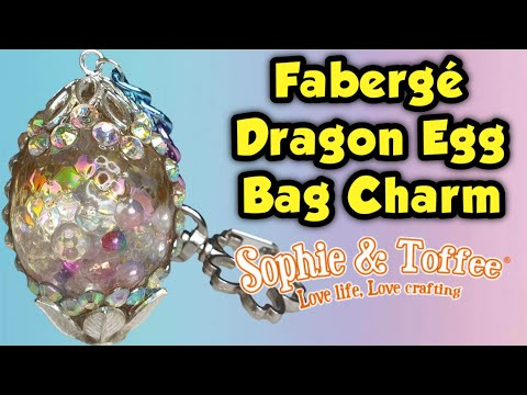 How To Make A Fabergé Dragon Egg Bag Charm | Sophie and Toffee October Elves Box