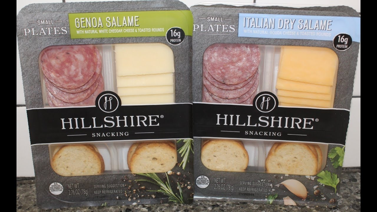 Hillshire Snacking Small Plates Genoa Salame Italian Dry Salame Review Youtube