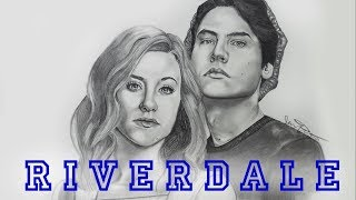 Time Lapse Drawing - (Riverdale) Betty and Jughead