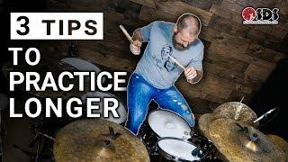 Video 3 Tips for Practicing the Drums Longer download MP3, 3GP, MP4, WEBM, AVI, FLV September 2018