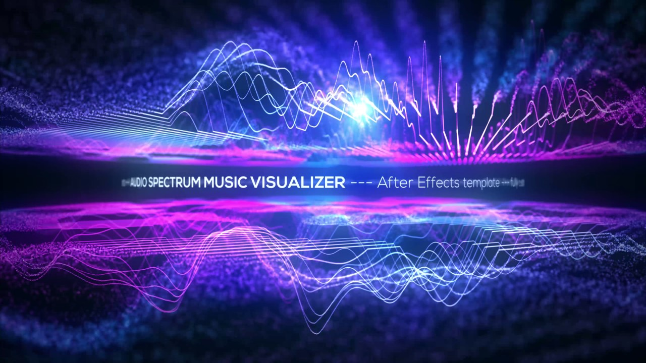 after effects template audio spectrum music visualizer. Black Bedroom Furniture Sets. Home Design Ideas