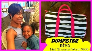 Dumpster Diving: Dumpster Diva Find Treasures Worth $400+