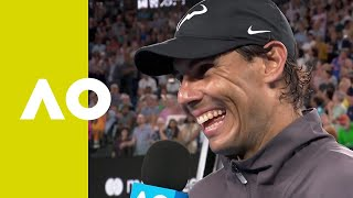 Rafael Nadal on-court interview (QF) | Australian Open 2019