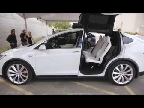 Tesla Model X тест драйв на русском