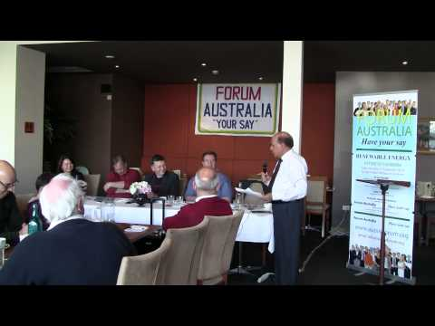 Mohammed Ali - Vote of Thanks - Renewable Energy Future of Canberra
