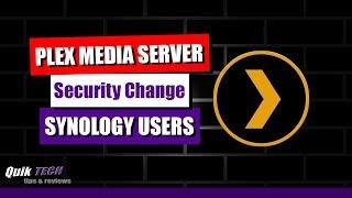Plex Media Server Security Change