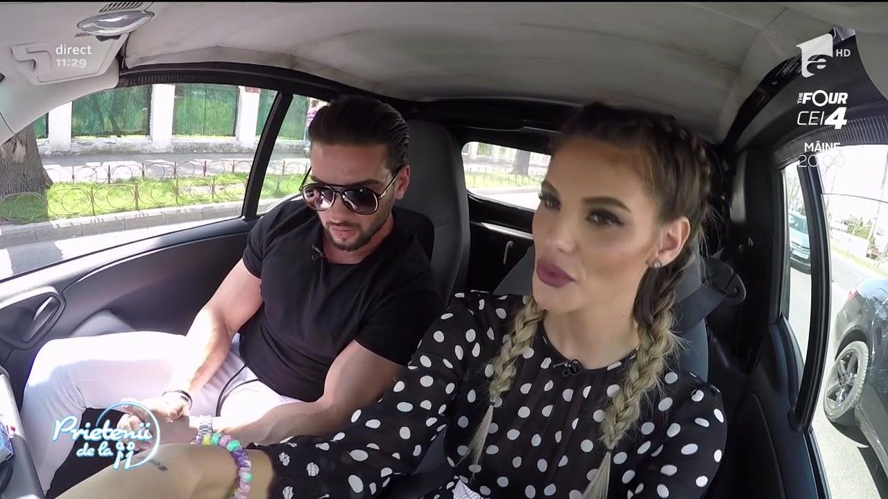 Ramona şi Dorian Popa au făcut show în trafic: