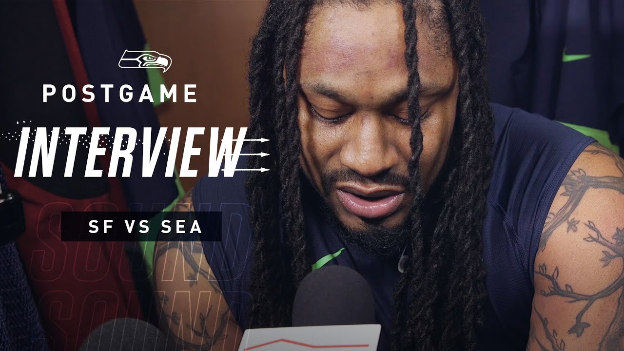Marshawn Lynch uses postgame news conference time to give ...