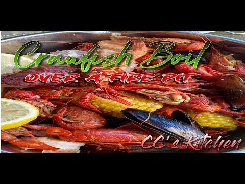 Louisiana Crawfish Boil In A Fire Pit - (SECRET INGREDIENT)