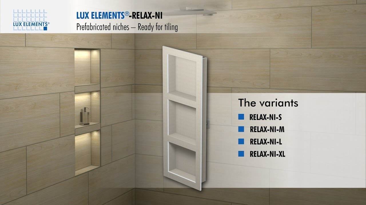 lux elements installation prefabricated niches relax ni for integration into the wall
