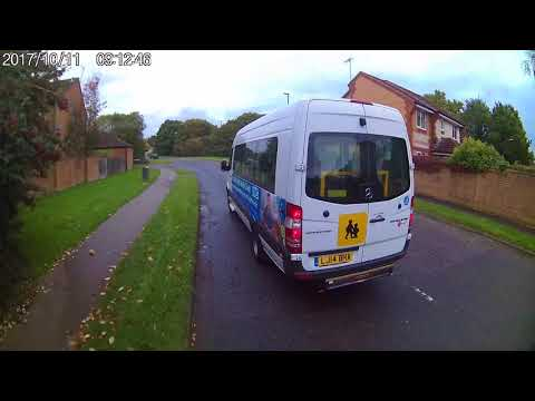 NHS Minibus Almost Hit and Run