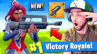 *NEW* LEGENDARY BURST RIFLE GAMEPLAY in Fortnite: Battle Royale! (FAMAS)