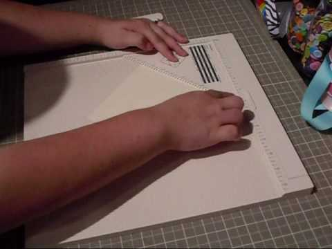 Доска для биговки и резак / Покупки для скрапбукинга - YouTube