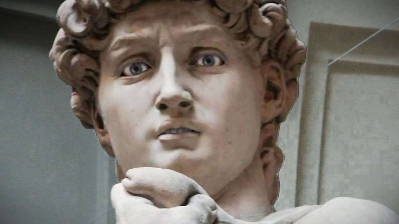 the statue of david by michelangelo with his bigboys youtube. Black Bedroom Furniture Sets. Home Design Ideas