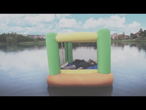 Thumbnail: I Spent the Night on a Lake in a Bouncy Castle & It Was Too Much Fun (Sleep on a Lake Challenge)