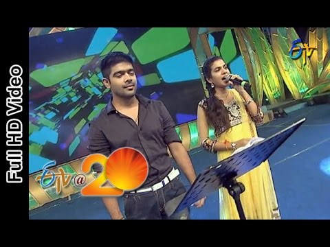 Revanth and Sravana Bhargavi Performs - Dandiya Song in Vijayanagaram ETV @ 20 Celebrations