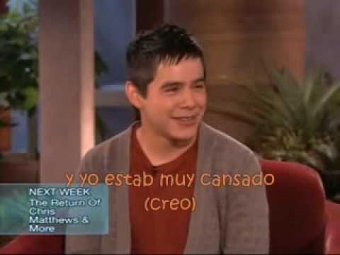 David Archuleta interview - Ellen 11-14-2008 en español