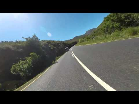 Yamaha R1 Riding to Franschhoek on R45 Pass. RAW