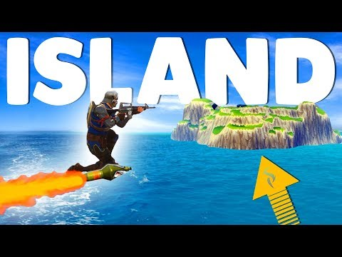 ROCKET RIDING TO SECRET ISLAND In Fortnite Battle Royale