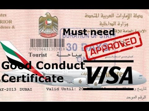 visit visa candidate in UAE ||How to apply for a Good Conduct ...