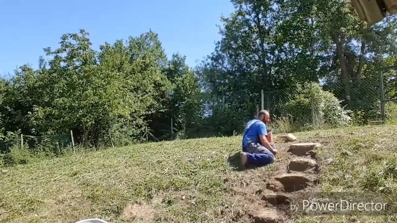 Come Costruire Una Fontana In Cemento.Come Costruire Una Scala In Pietra E Legno Con Materiali Di Riciclo