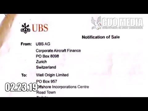 郭文贵:ACJ319-115 (CJ) (serial number:  UBS bank, Wang qisha AMAC Aerospace, in collaboration with王岐山