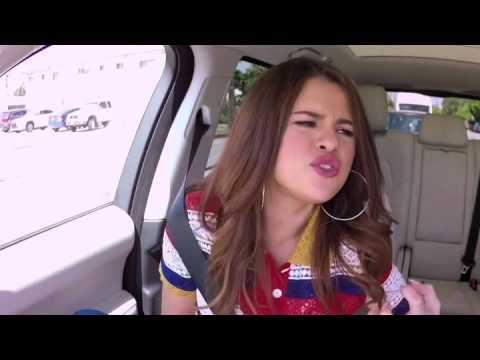 Carpool karaoke with Selena Gomez 1 minute