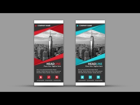How To Design Professional Roll Up Banner | Photoshop Tutorial