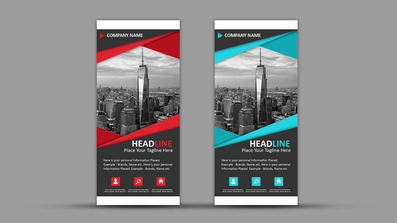 Rollup How To Design Professional Roll Up Banner Photoshop Tutorial