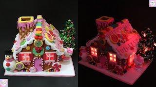 DIY Ginger bread House Lamp / DIY Hello Kitty GingerBread / Casa de Jengibre de Navidad de Goma Eva