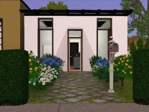 The sims 3 design ultra modern small house youtube for Ultra modern small house