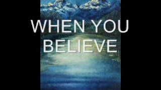 WHEN YOU BELIEVE (ORIGINAL SONG BY J.A.M. James Anderson Murdoch) Basic recording