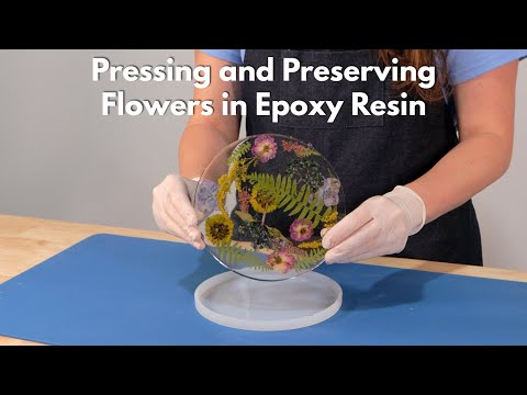 Pressing and Preserving Flowers in Epoxy Resin With Jessie Jewels