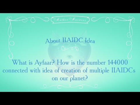 What is AYFAAR? How is the number 144000 connected with idea of  IIAIDCs?