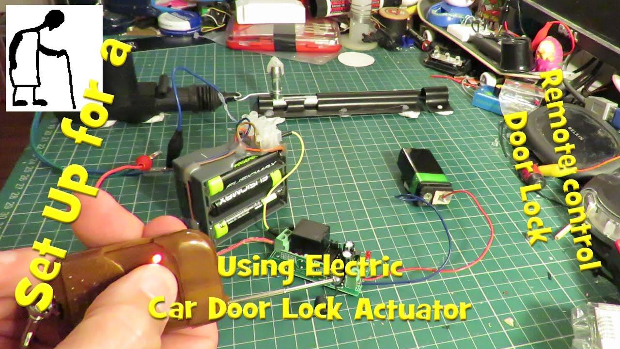 Walk Through Set Up Remote Door Lock Using Electric Car
