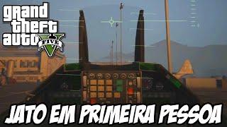 GTA V NOVA GERAÇÃO - Pilotando o JATO MILITAR EM PRIMEIRA PESSOA