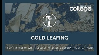 Gold Leaf work at the Isle of Wight College