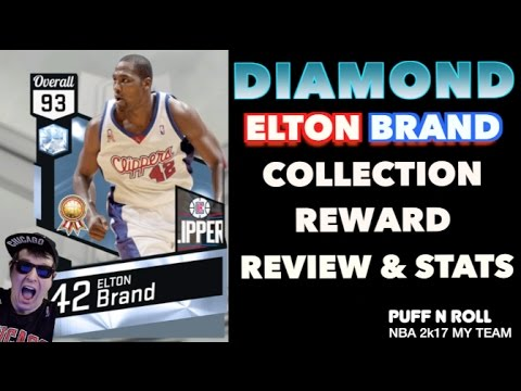 DIAMOND ELTON BRAND! WE GOT HIM! STATS AND REVIEW! MY TEAM NBA 2K17!