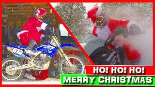 🎅 Dirt Bike Santa vs Quad Santa Claus! ❄️ Dirt Bike Snow Challenge! ⛄