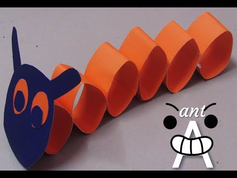 paper craft/ how to make ant with paper