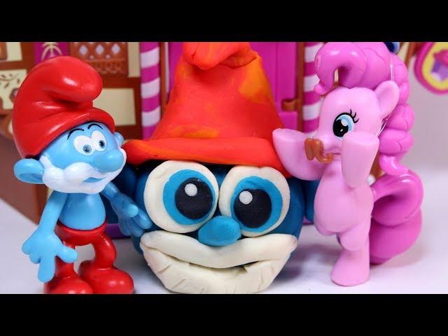 My Little Pony & Smerfy & Play Doh • Smerfny tort • Papa Smerf • JAKKS Pacific • bajka po polsku