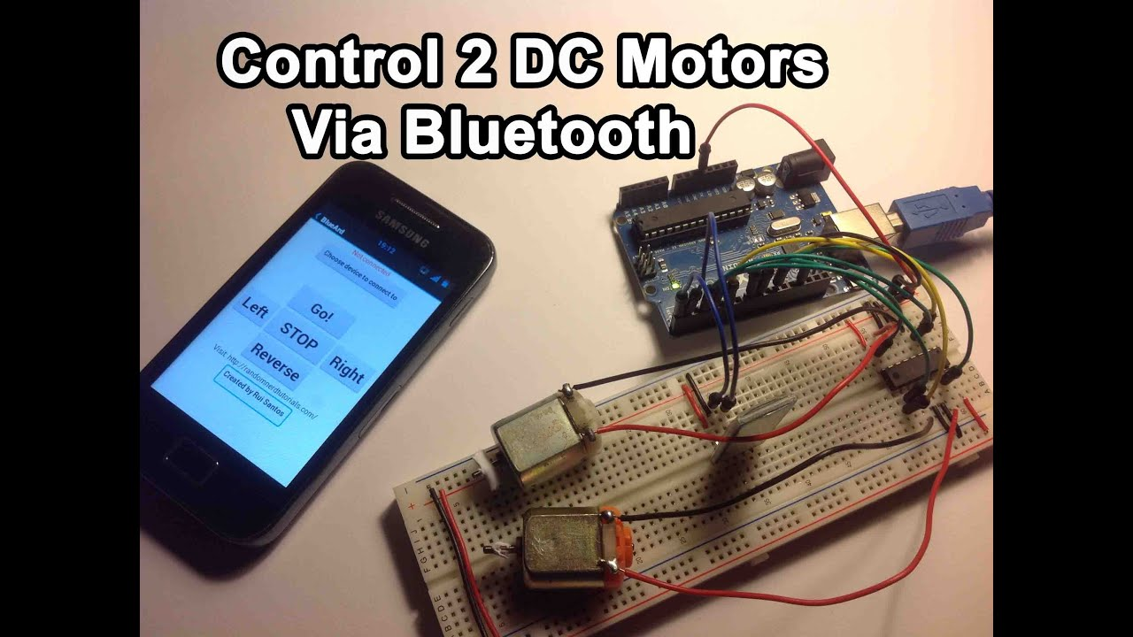 Arduino Control 2 Dc Motors Via Bluetooth Tutorial Youtube L293d Motor Driver Circuit Embed4u