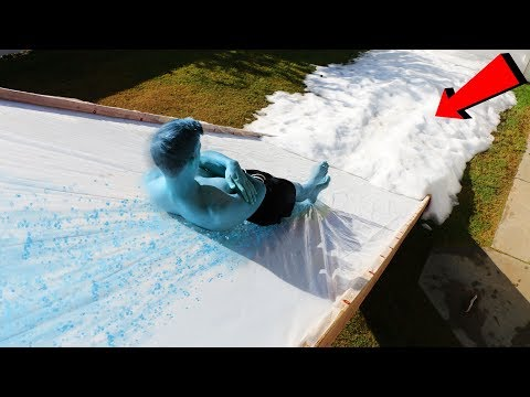 FROSTBITE WATER SLIDE!! *We bought 10,000 lbs of SNOW*